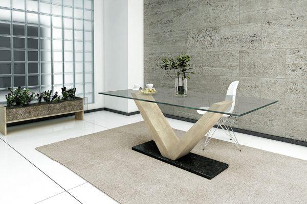 Mesa de comedro marmol 900 3