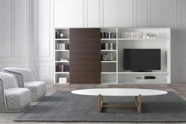 Mueble tv libreria 824