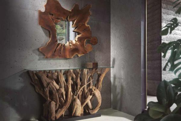 Consola y espejo madera reciclada 401 (2)
